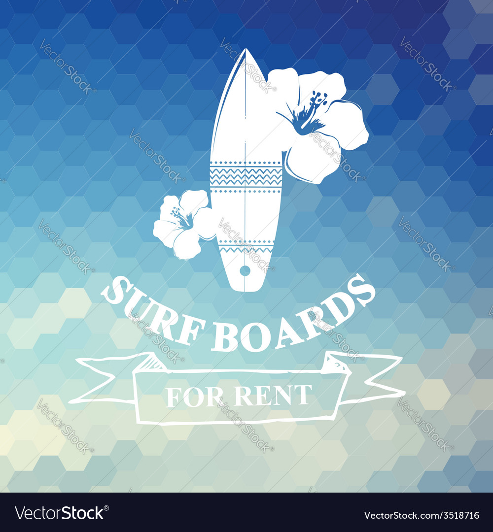 Surfing summer icon label