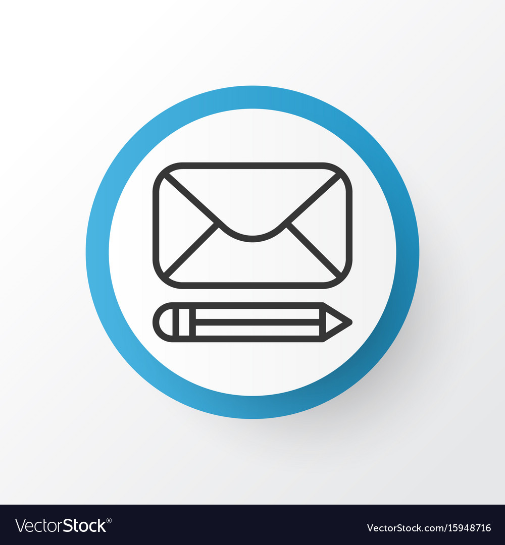 Write Message Icon Symbol Premium Quality Vector Image