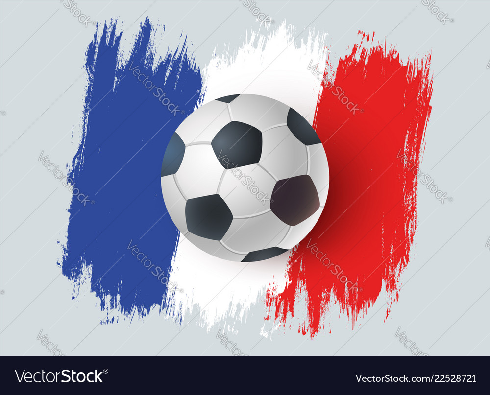 Ball for soccer with france flag