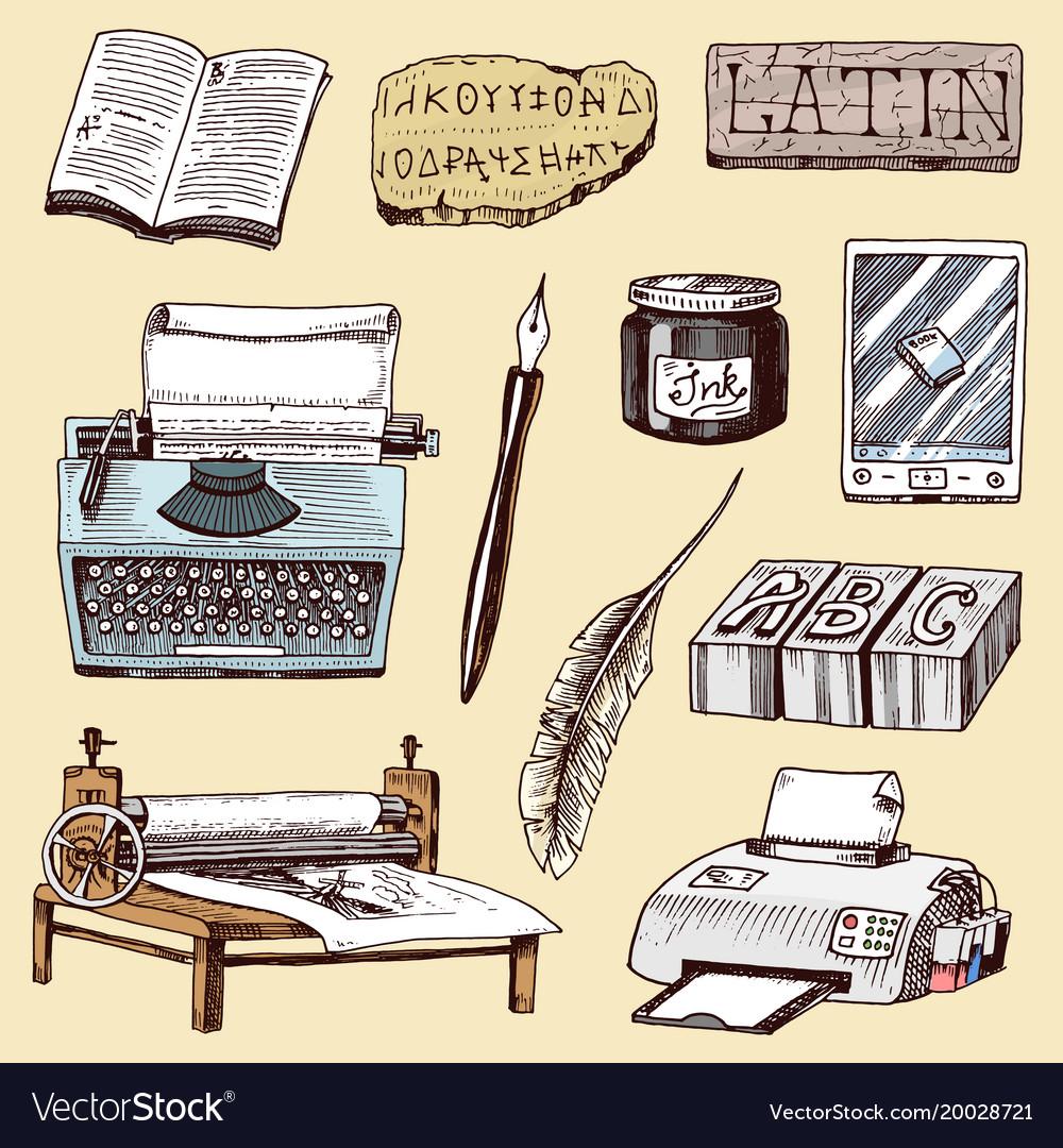 Book-printing typography writer author