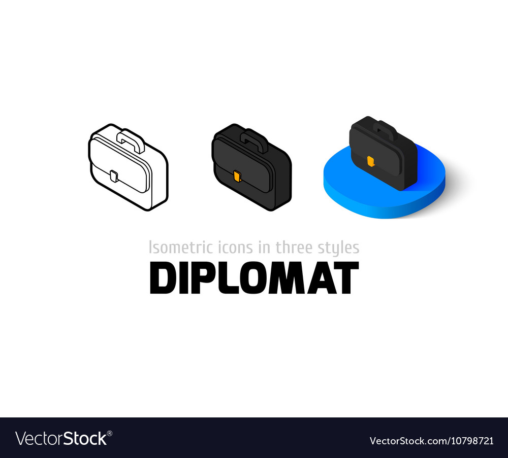 Diplomat icon in different style