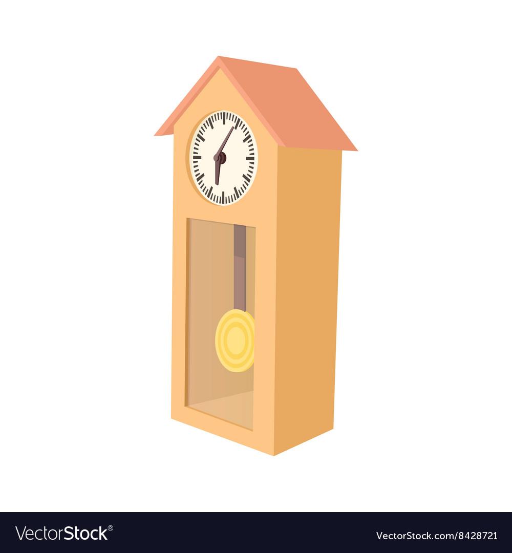 Grandfather clock icon cartoon style