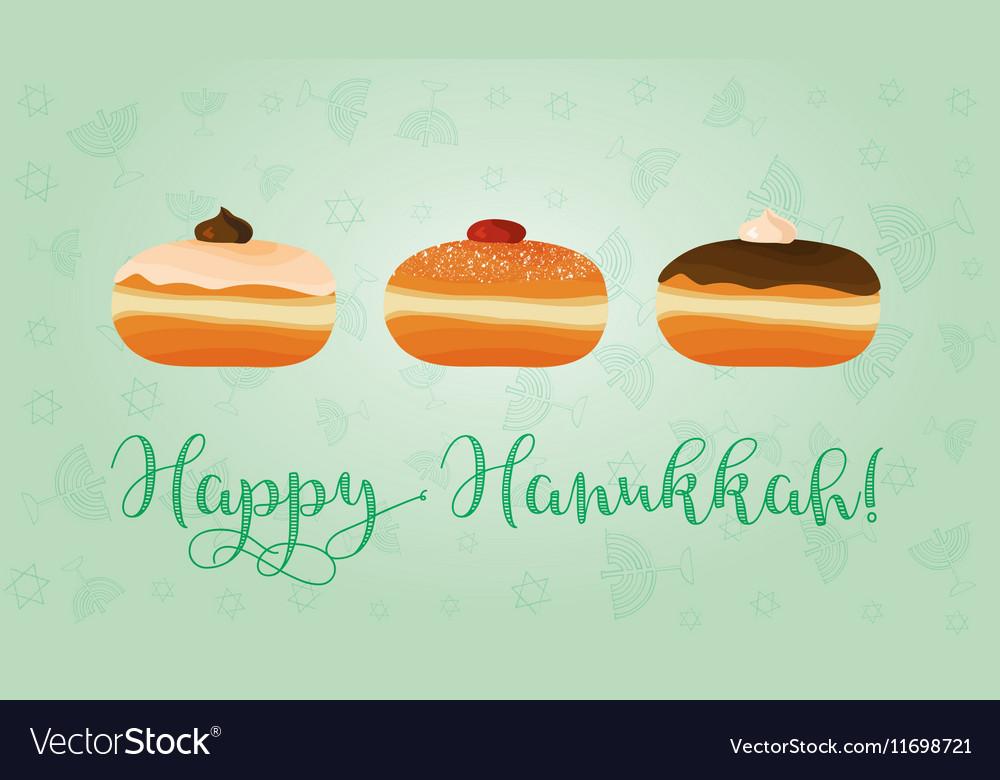 Jewish holiday of Hanukkah sufganiyot and
