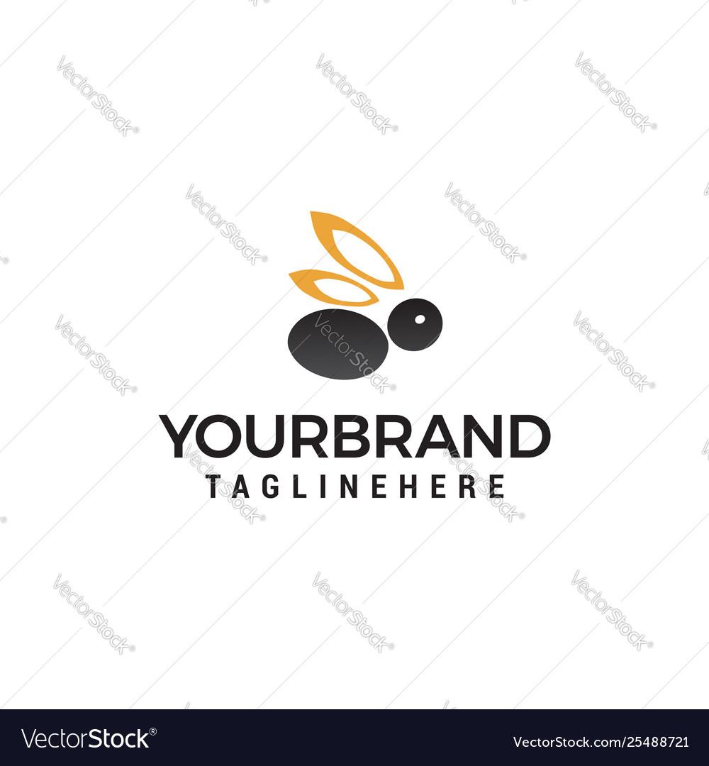 Rabbit logo design concept template
