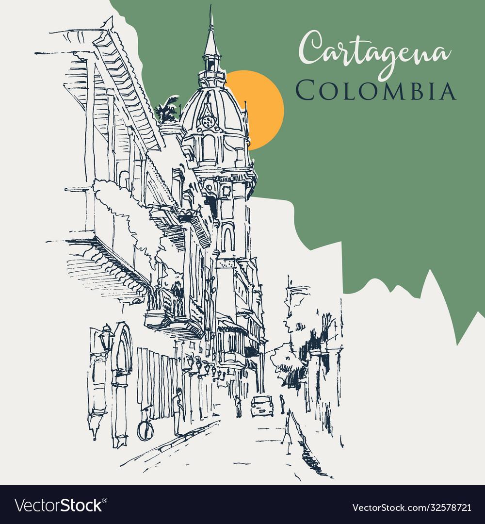 Sketch cartagena colombia