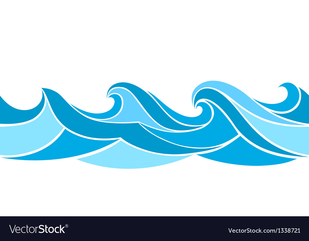 stylized waves royalty free vector image vectorstock rh vectorstock com vector wave free download vector waveform