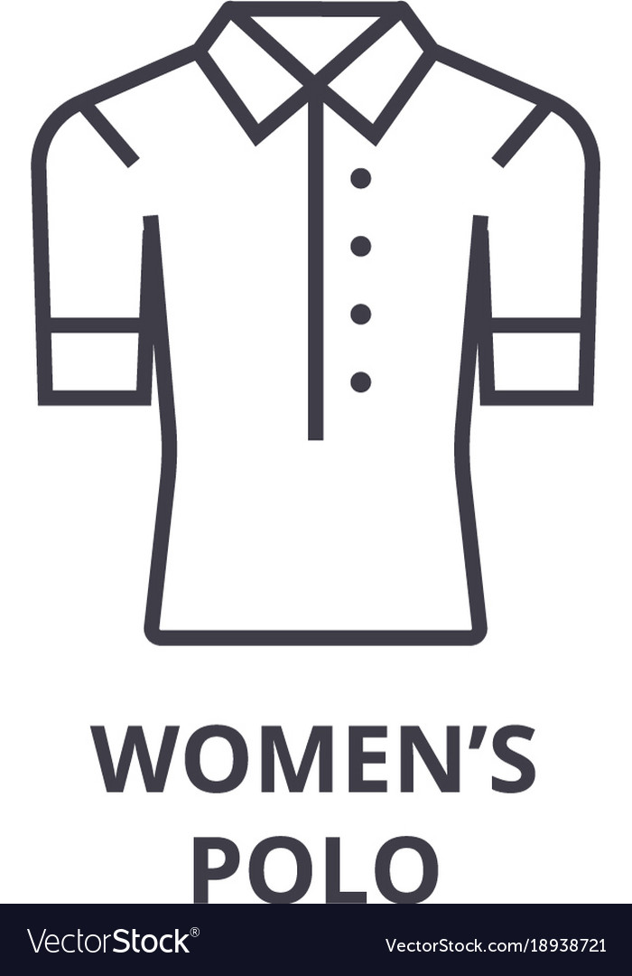 Women polo line icon outline sign linear symbol