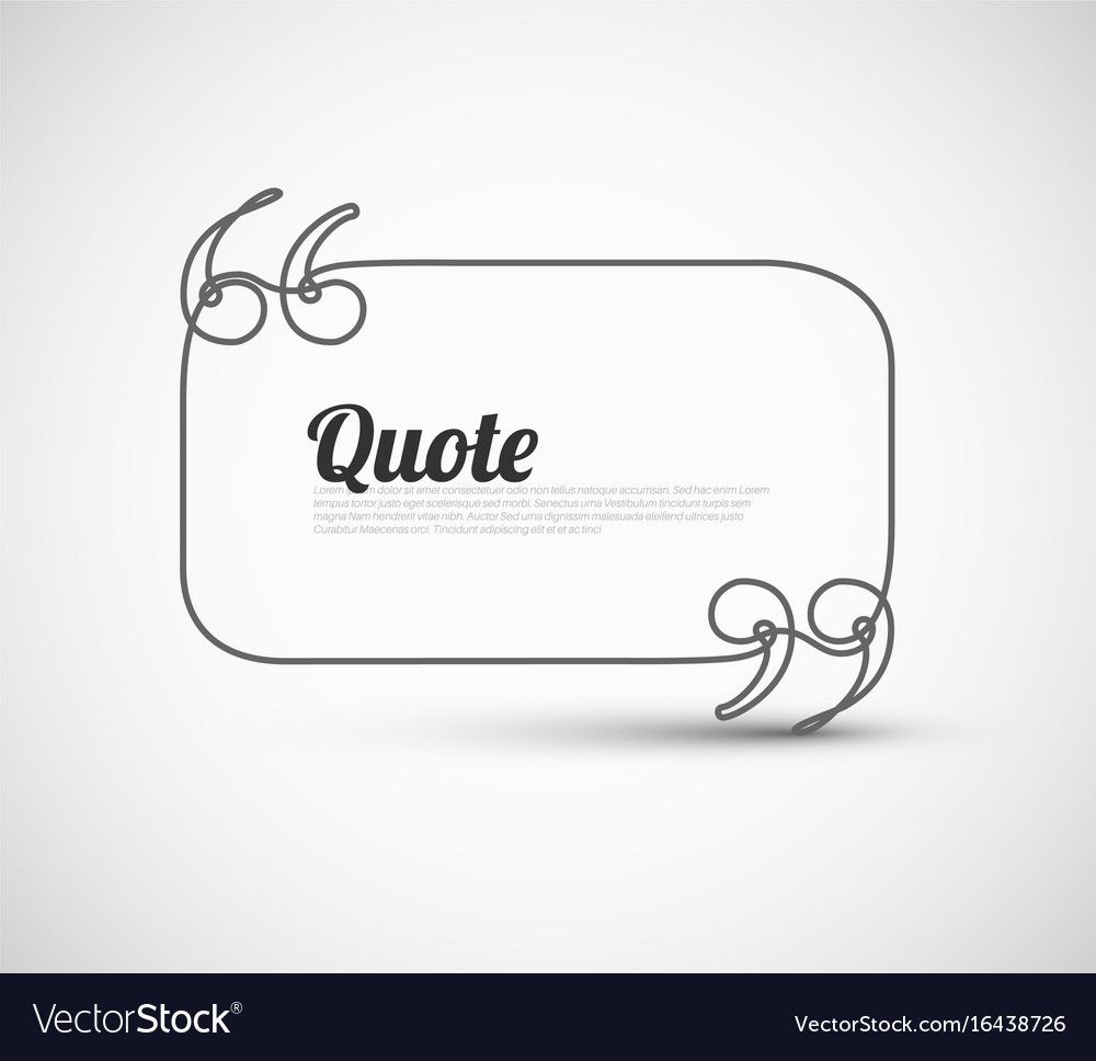 blank quote template royalty free vector image