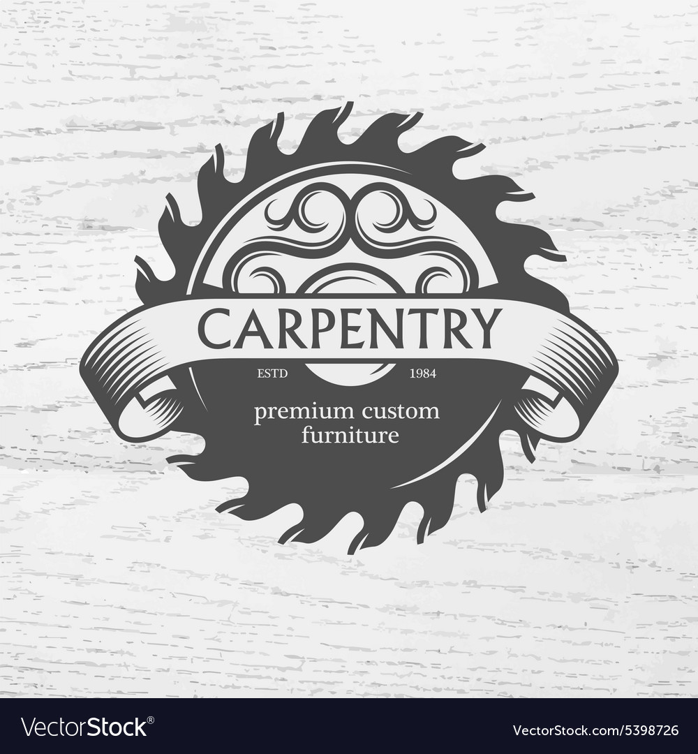 Carpenter design element in vintage style