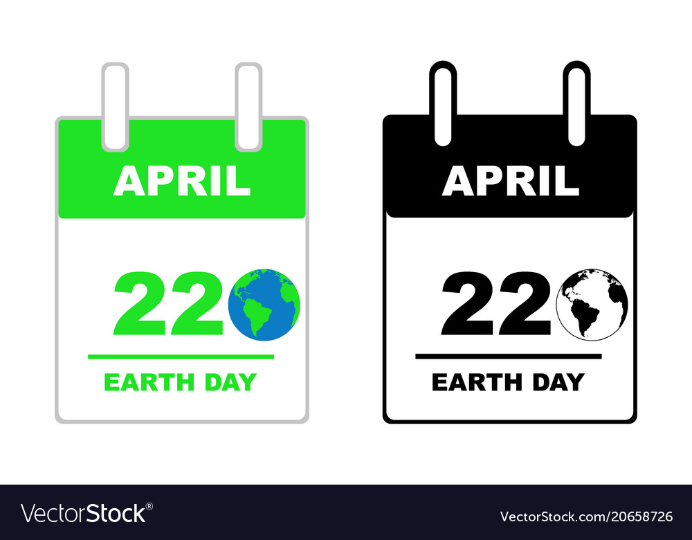Earth day calendar