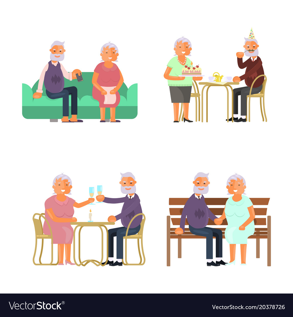 Elderly people characters
