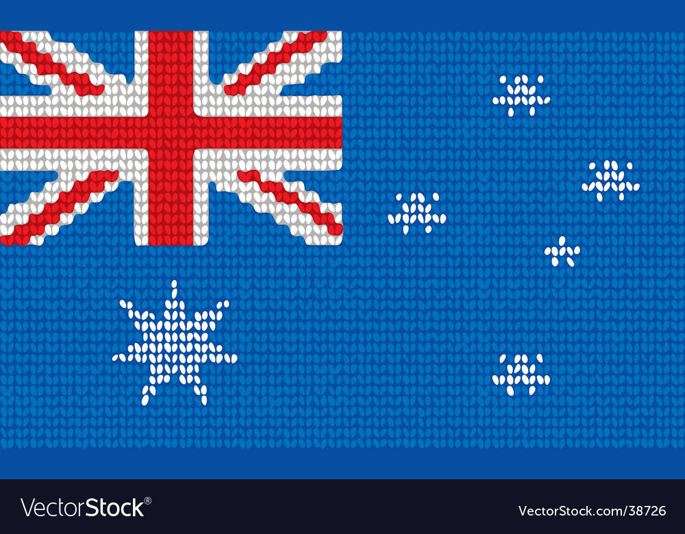 Knitted Australia flag