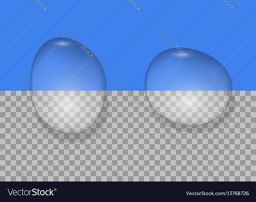 Realistic water drops