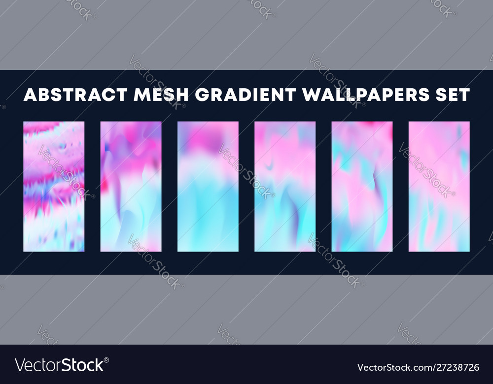 Set colorful gradient wallpapers backgrounds