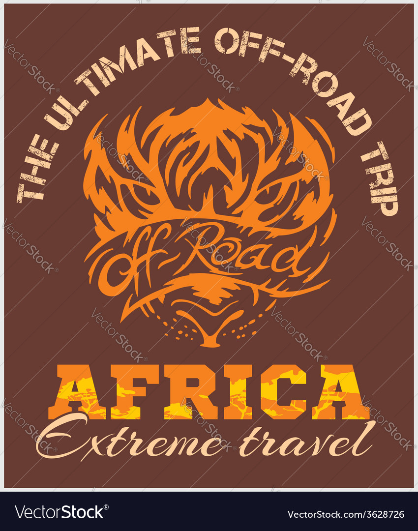 Travel Africa - extreme off-road emblem