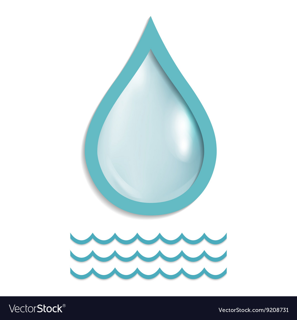 A drop of pure water vector image