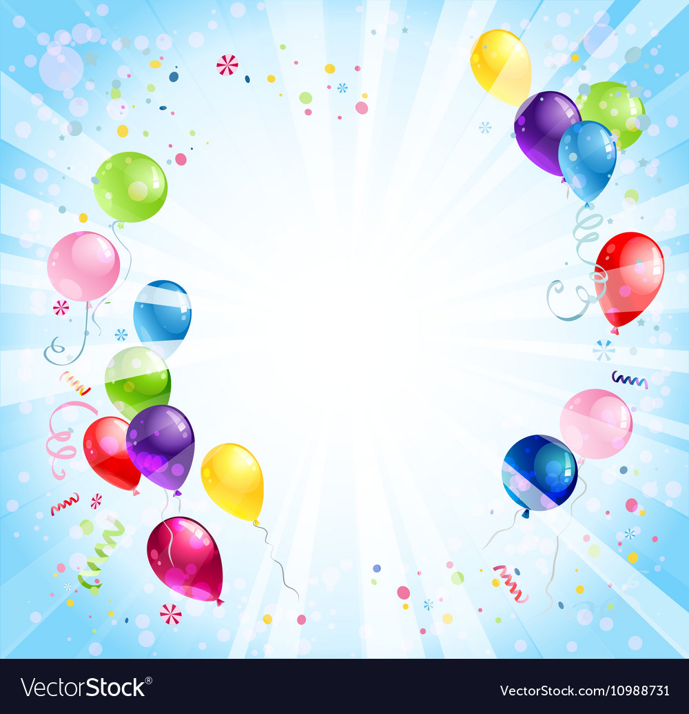 birthday background with balloons royalty free vector image