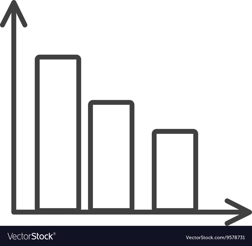 Black and white arrows and columns graphic vector image