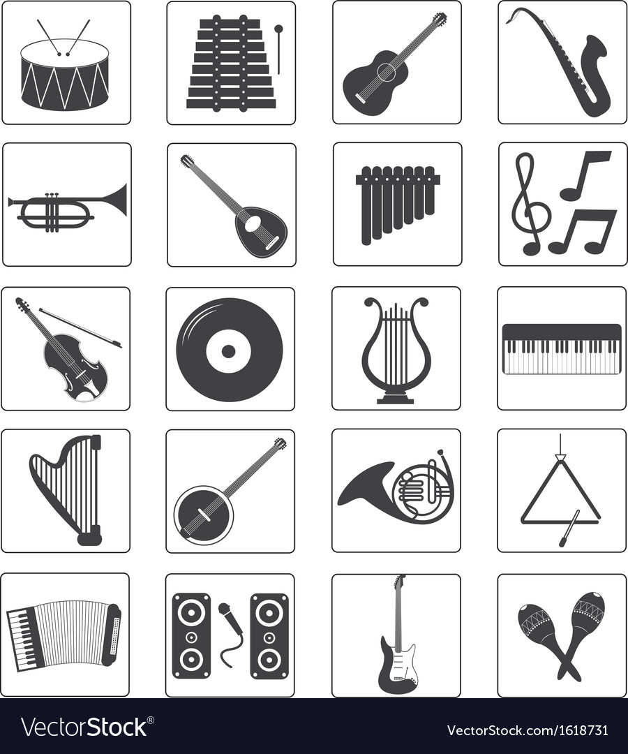 Music Instrument Icons Set
