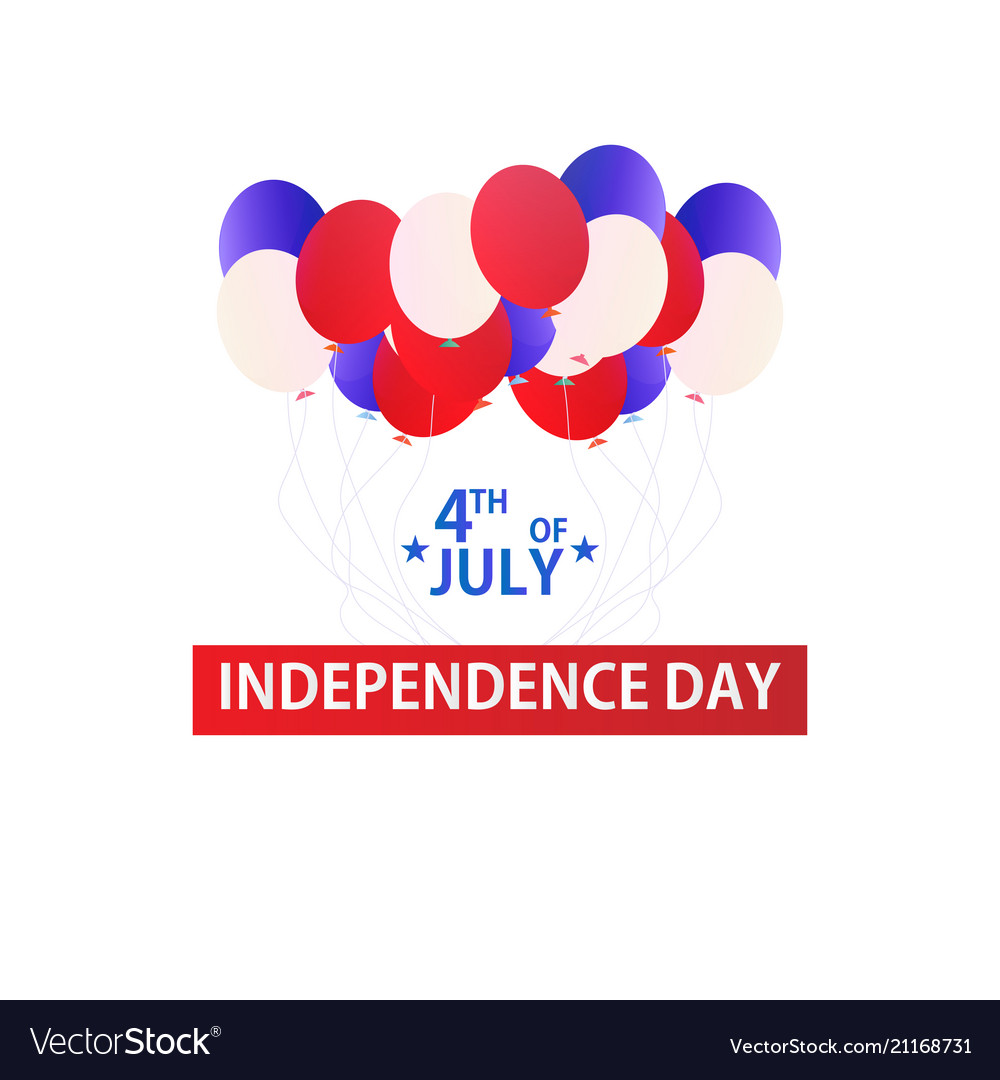 Usa independence day 4 th july banner with