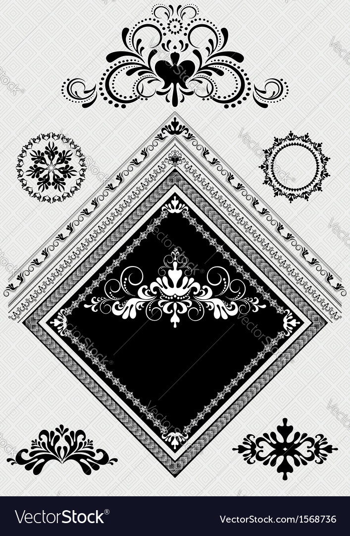 Design decor with ornament for angle page