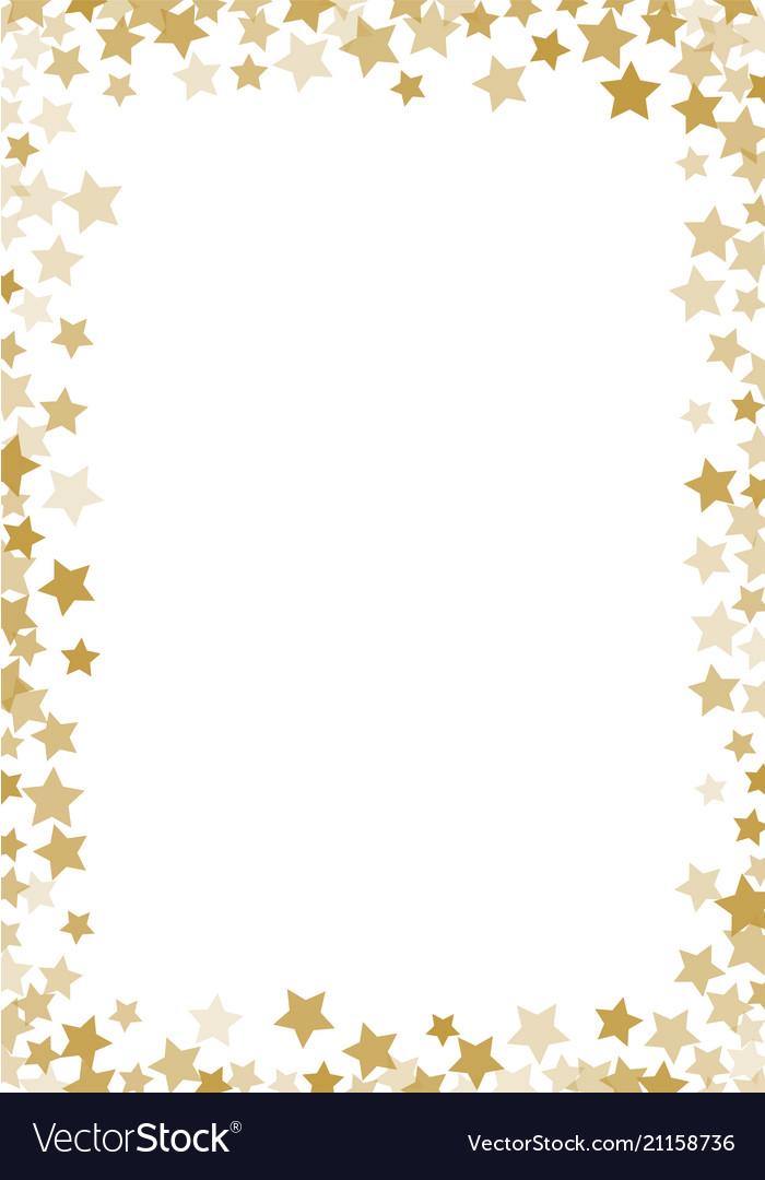 Golden stars confetti background