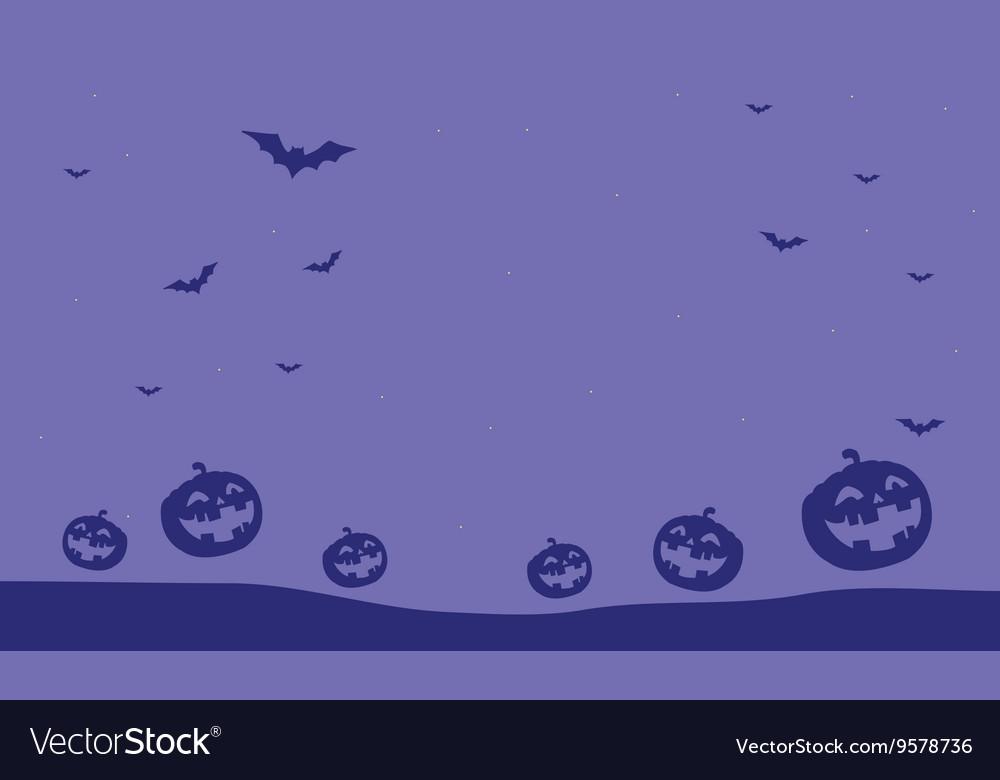 Purple backgrounds pumpkins and bat