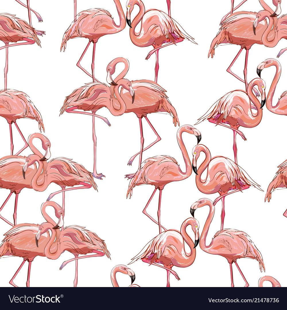 Seamless flamingo pattern