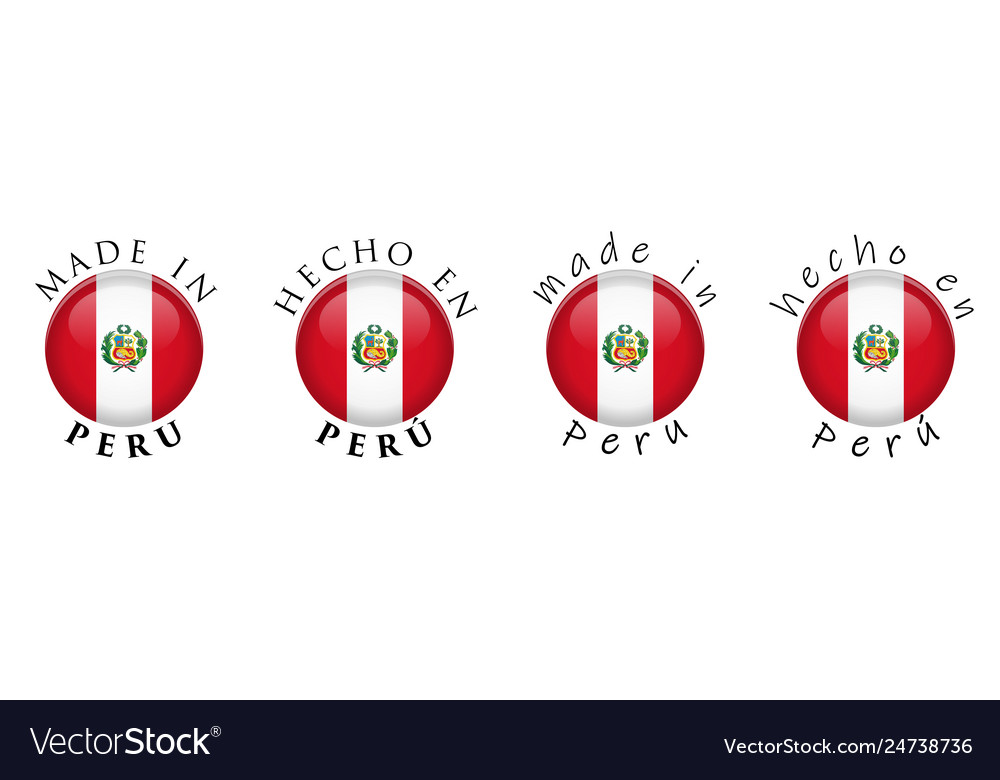 Simple made in peru spanish translation 3d button