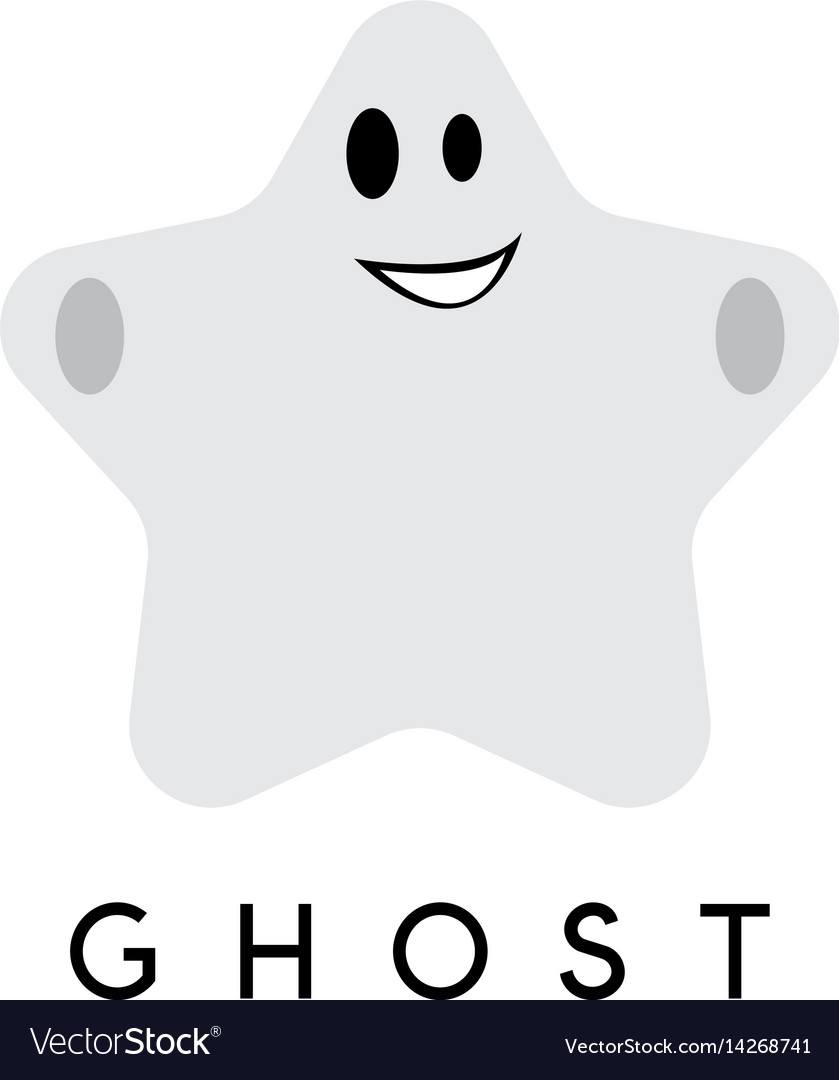 Abstract Design Template Of Ghost In A Form Of Vector Image