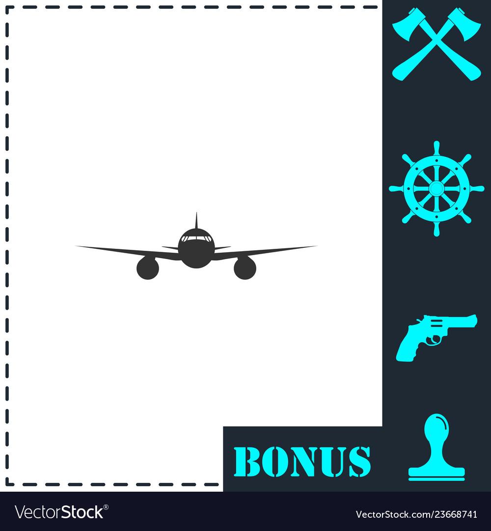 Aircraft icon flat