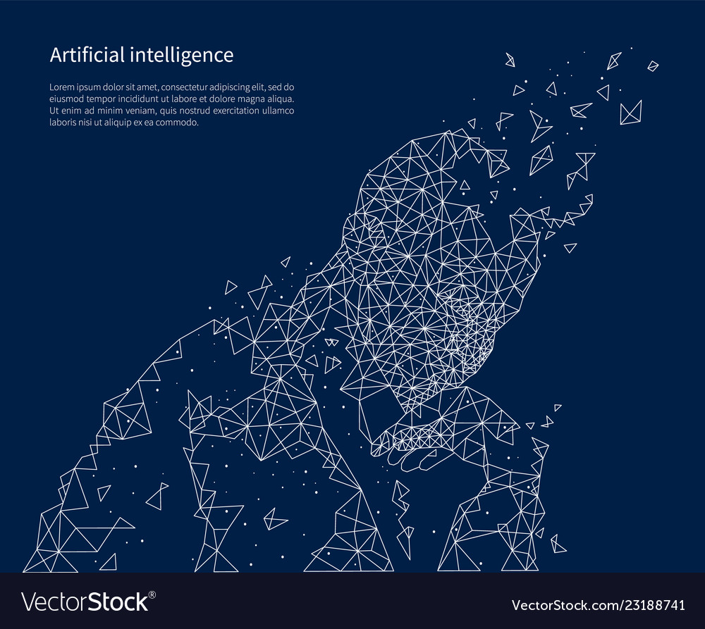 Artificial intelligence poster illuminated