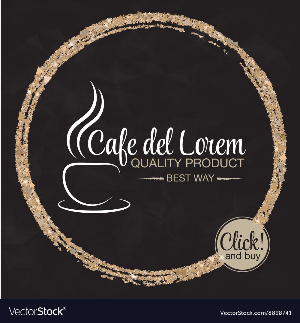 Coffee cup logo design template vector image
