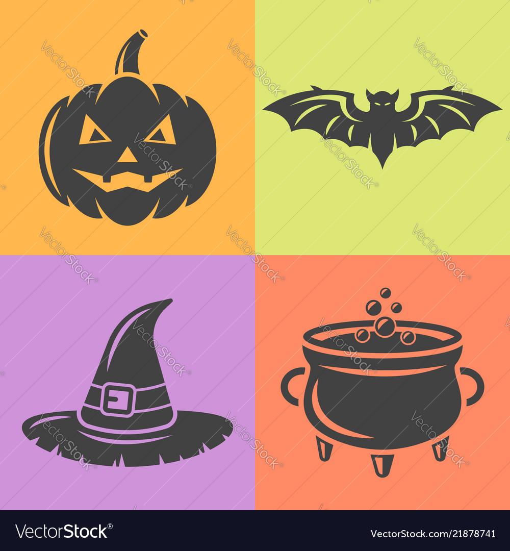 Halloween isolaten design elements