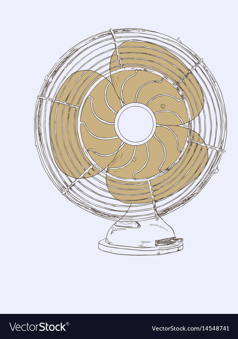 Old vintage fan sketch