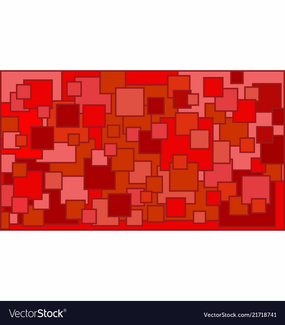 3f6419ff0a05 Squares in various shades of red background Vector Image