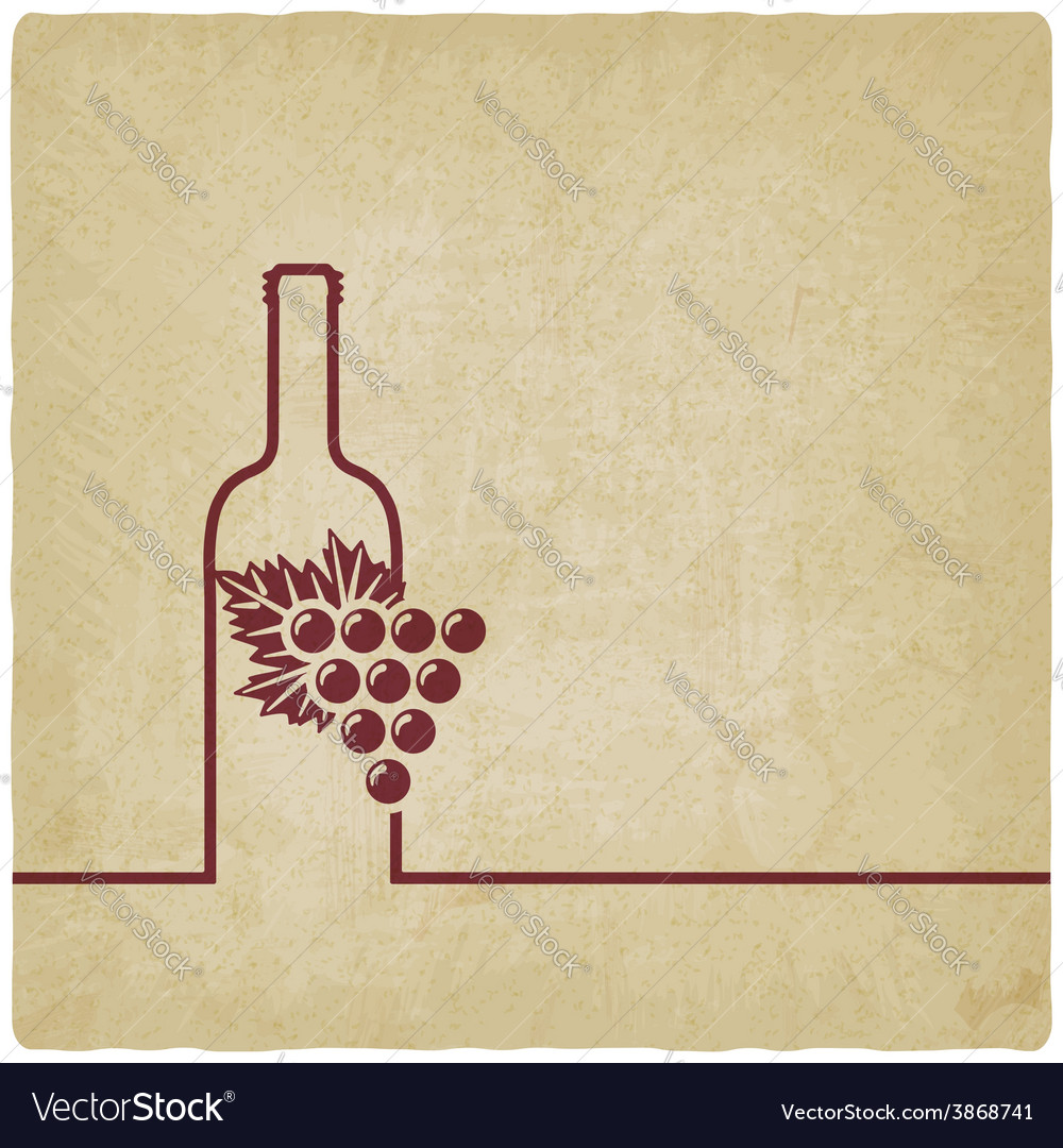 wine menu old background royalty free vector image