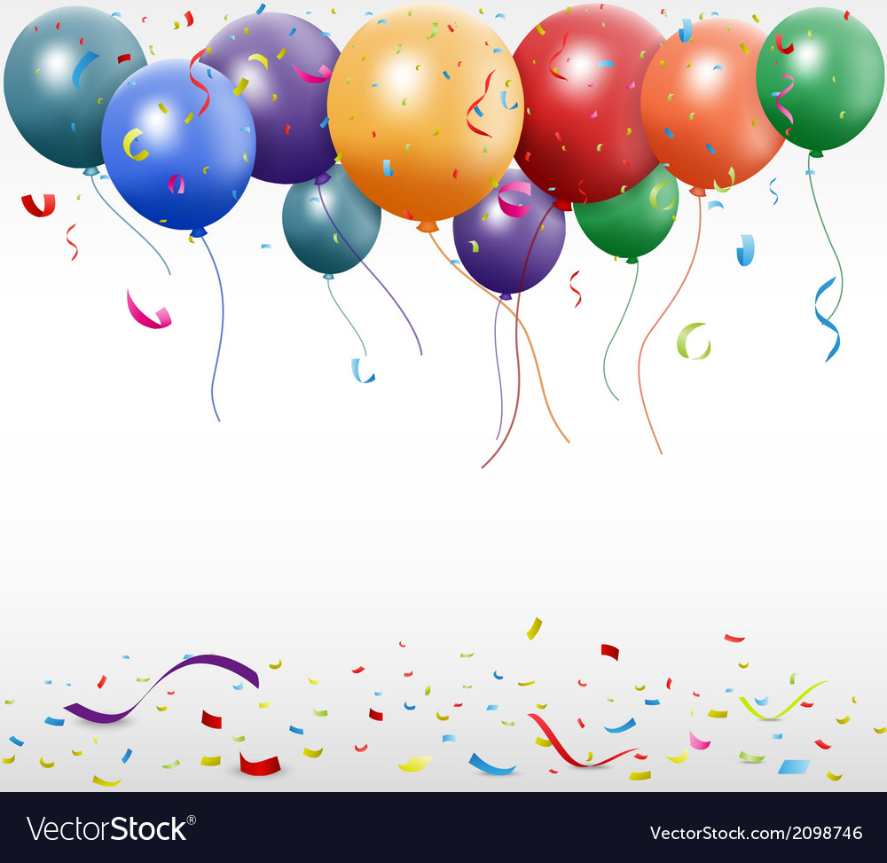 Birthday celebration with balloon vector image