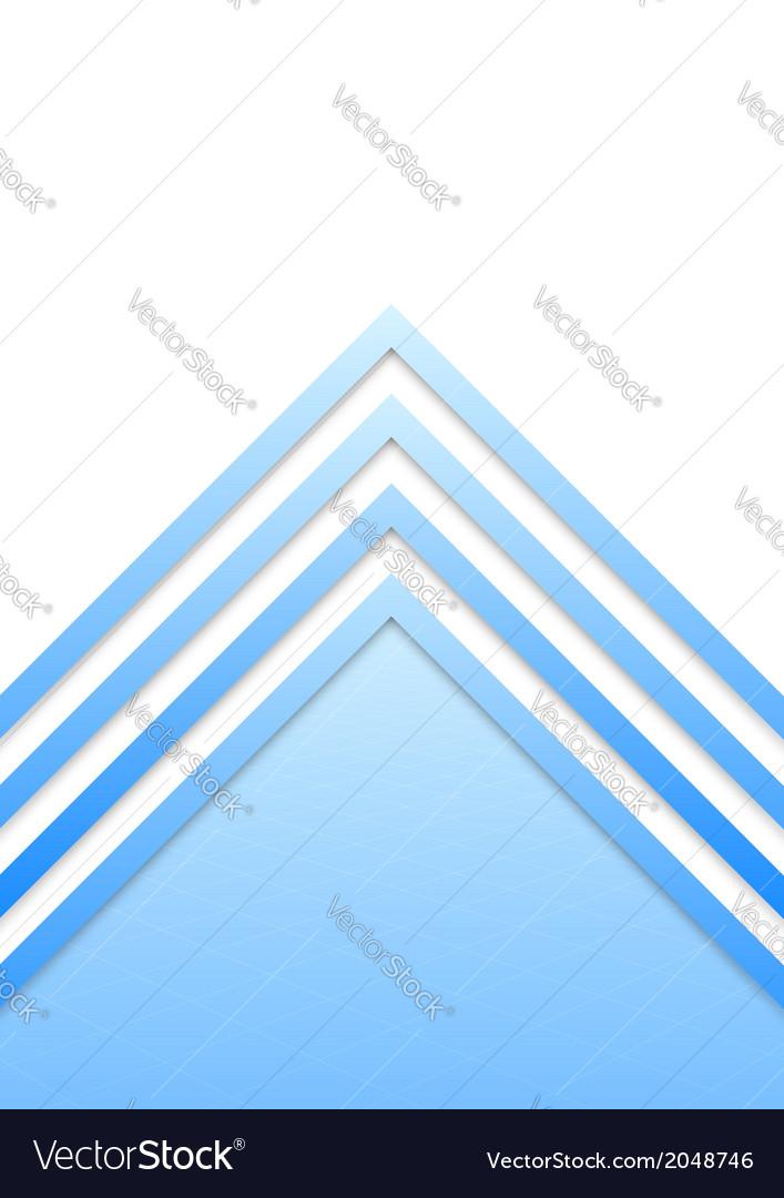 Blue border arrow lines background