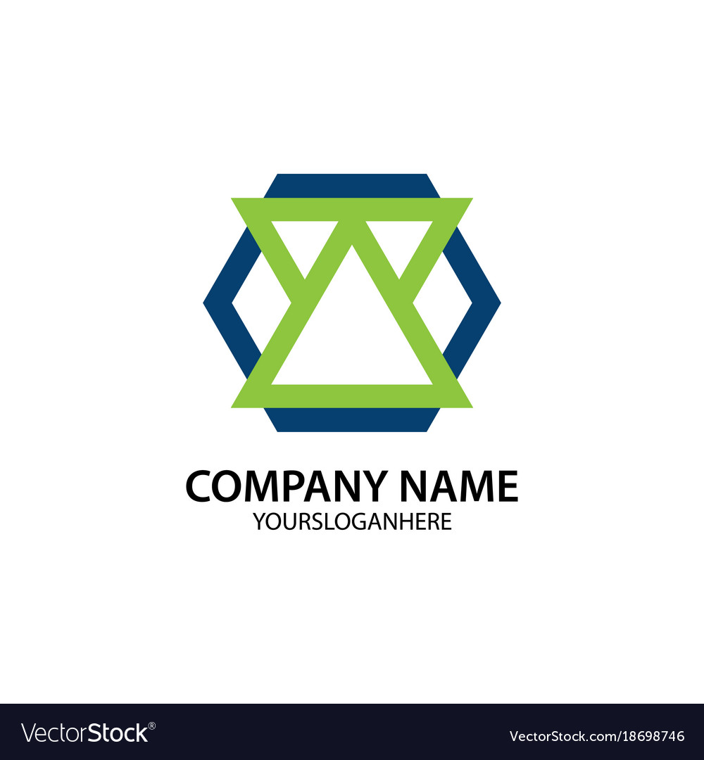 Business company logo shape polygon