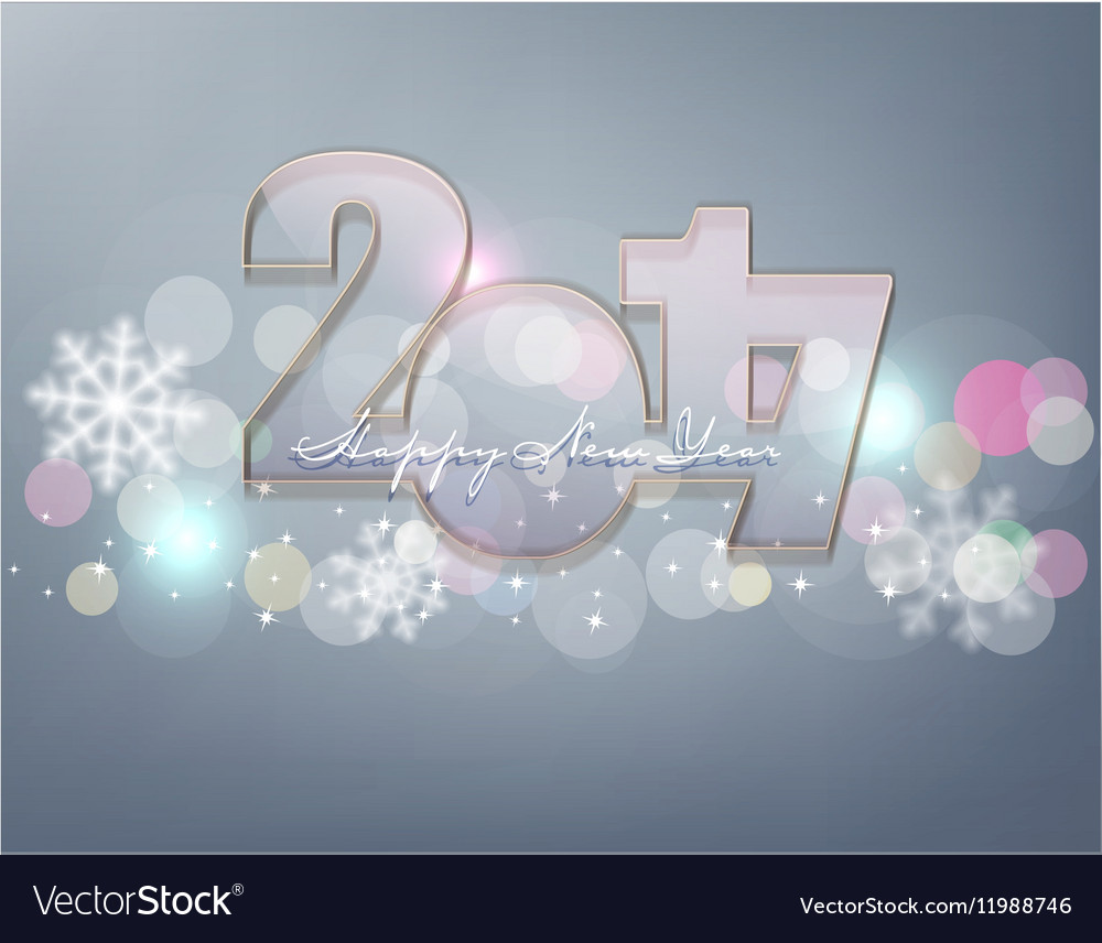 New Year Glass figures 2017 vector image