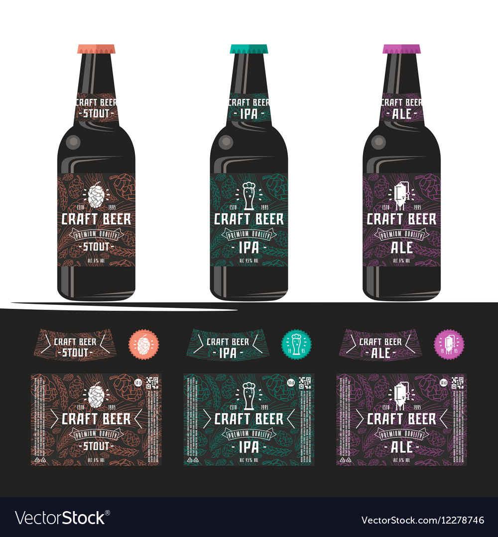 Set of templates label for craft beer