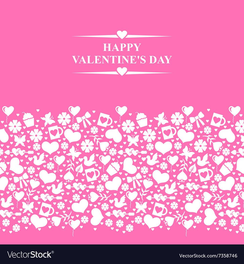 Valentine el gorisontal pink