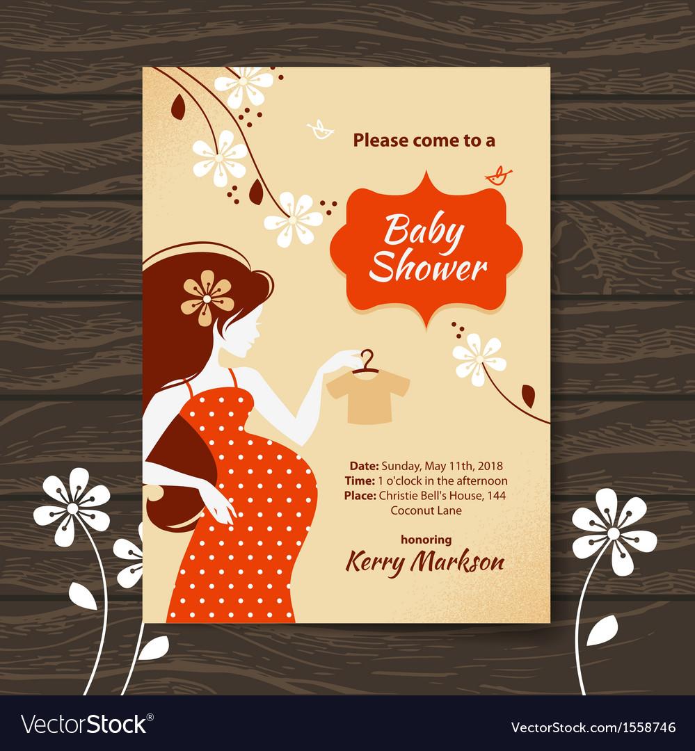 Vintage baby shower invitation royalty free vector image vintage baby shower invitation vector image filmwisefo