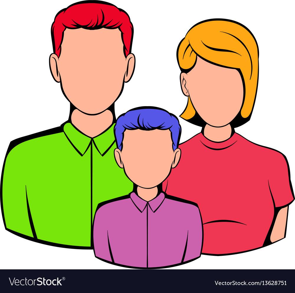 Family icon cartoon