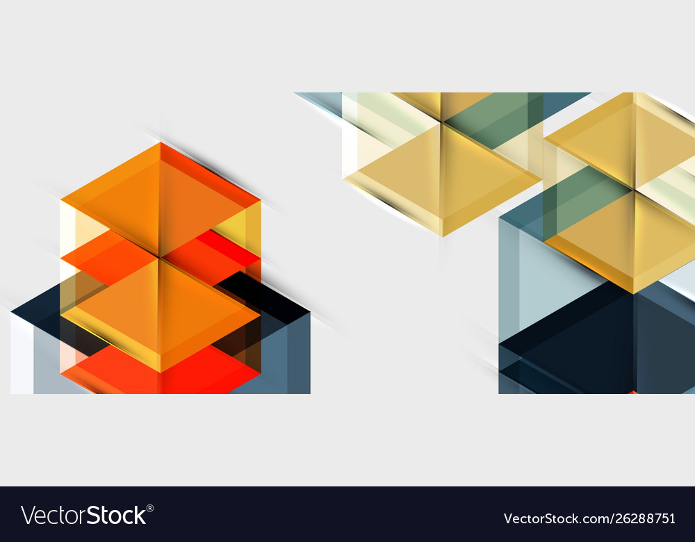 Geometric triangle and hexagon abstract background