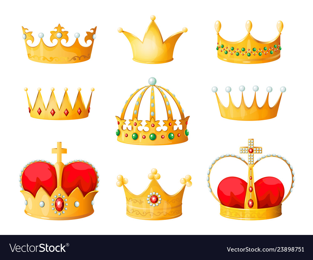 Gold Cartoon Crown Golden Yellow Emperor Prince Vector Image Search 123rf with an image instead of text. vectorstock