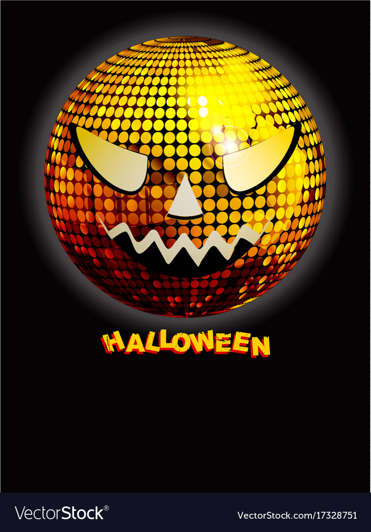 Halloween Disco.Halloween Disco Ball With Decorative Text On Black