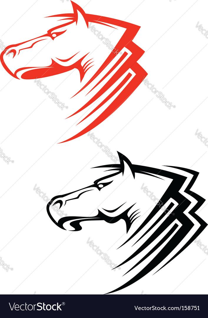Horses Symbols Royalty Free Vector Image Vectorstock