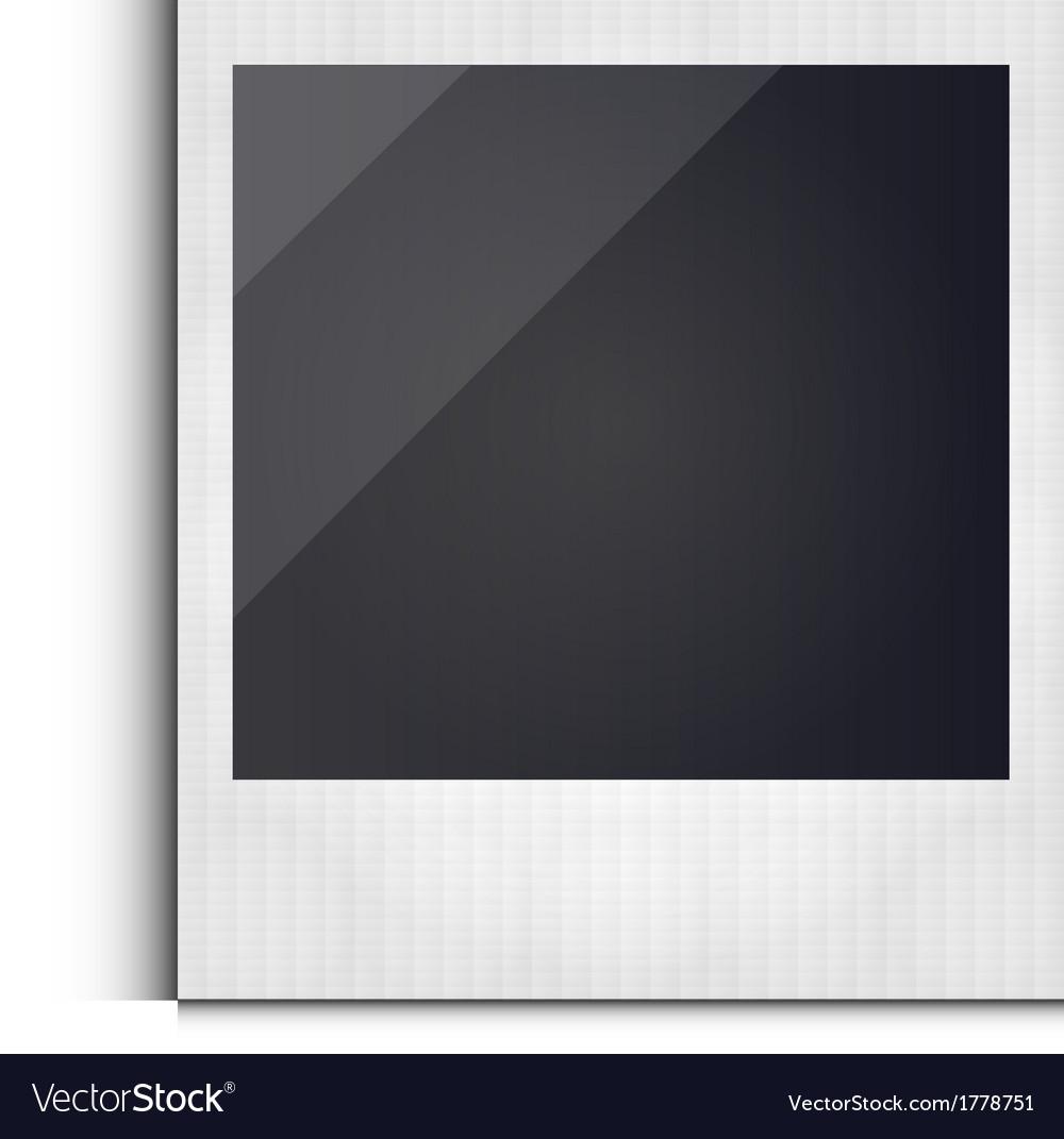 518335783eb Polaroid photo frame isolated on white background Vector Image
